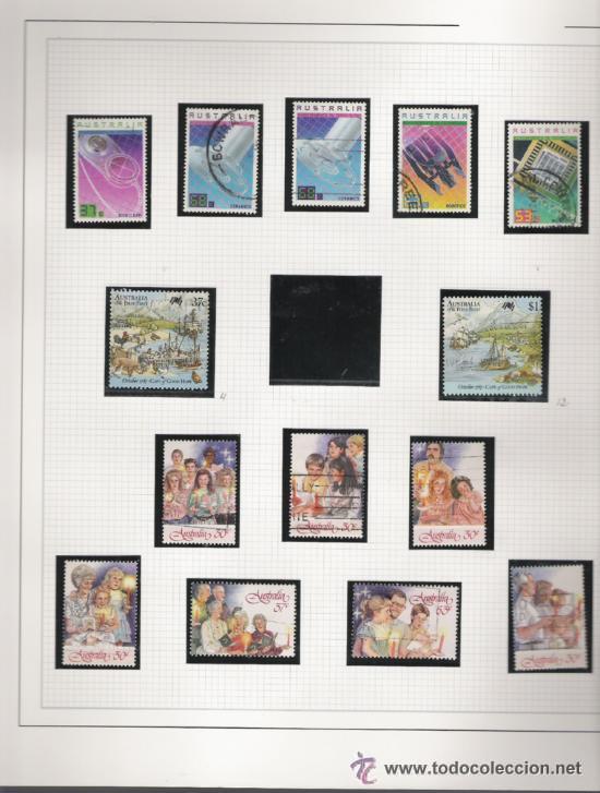 Sellos: GRAN COLECCION DE AUSTRALIA MATASELLADA MONTADA EN ALBUM CON FILOESTUCHES 1912/1996 - Foto 15 - 30270852