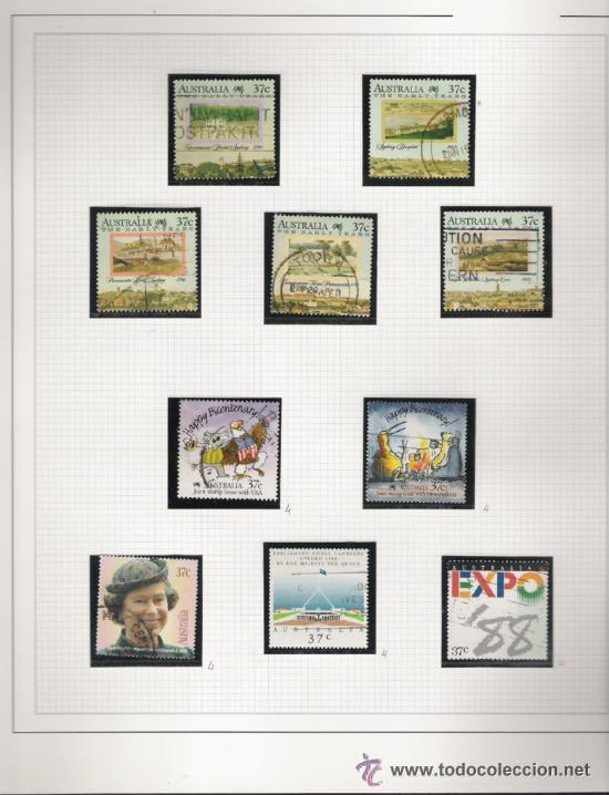 Sellos: GRAN COLECCION DE AUSTRALIA MATASELLADA MONTADA EN ALBUM CON FILOESTUCHES 1912/1996 - Foto 16 - 30270852