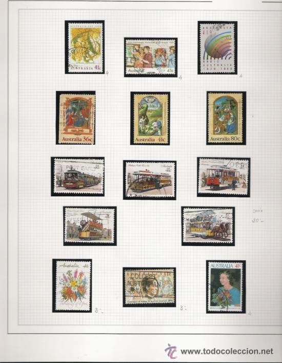 Sellos: GRAN COLECCION DE AUSTRALIA MATASELLADA MONTADA EN ALBUM CON FILOESTUCHES 1912/1996 - Foto 18 - 30270852