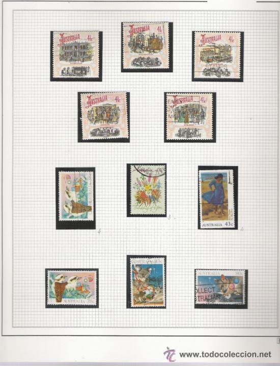 Sellos: GRAN COLECCION DE AUSTRALIA MATASELLADA MONTADA EN ALBUM CON FILOESTUCHES 1912/1996 - Foto 19 - 30270852