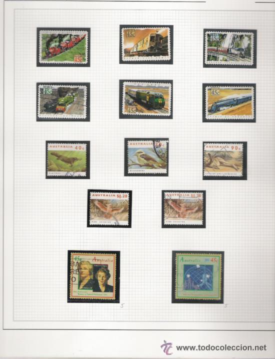 Sellos: GRAN COLECCION DE AUSTRALIA MATASELLADA MONTADA EN ALBUM CON FILOESTUCHES 1912/1996 - Foto 20 - 30270852