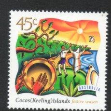 "Sellos: 11 AUSTRALIA -1997- COCOS(KEELING ) ISLANDS ""FESTIVE SEASON""NAVIDAD. Lote 32320481"