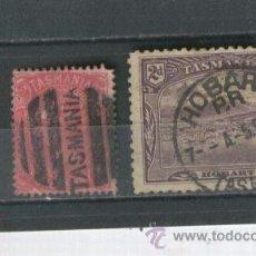 Briefmarken - SELLOS CLASICOS ANTIGUOS PAISES EXOTICOS TASMANIA AUSTRALIA ESPECTACULAR MATASELLO HOBART - 37210458