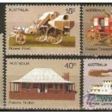 Francobolli: AUSTRALIA YVERT NUM. 477/83 ** SERIE COMPLETA SIN FIJASELLOS. Lote 37881763