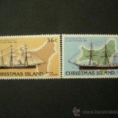 Sellos: CHRISTMAS ISLAND 1987 IVERT 230/1 *** CENTENARIO VIDITA DE LOS GRANDES VELEROS BRITANICOS - BARCOS. Lote 39159975