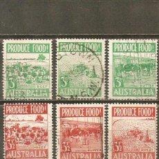 Sellos: AUSTRALIA YVERT NUM. 190/195 SERIE COMPLETA USADA. Lote 39352522