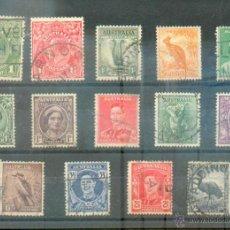 Sellos: AUSTRALIA .- LOTE DE 14 SELLOS ANTERIORES A 1914. Lote 40684178