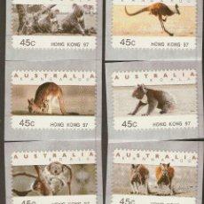 Sellos: AUSTRALIA HONG KONG 1997 SERIE CANGURO KOALA NUEVO LUJO COMPLETA MNH *** SC. Lote 48467049
