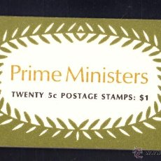 Sellos: AUSTRALIA CARNET 397** - AÑO 1969 - PERSONAJES - PRIMEROS MINISTROS. Lote 49647091