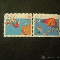 Sellos: AUSTRALIA 1990 IVERT 1181/2 *** SERIE BÁSICA - DEPORTES (IV). Lote 52939336