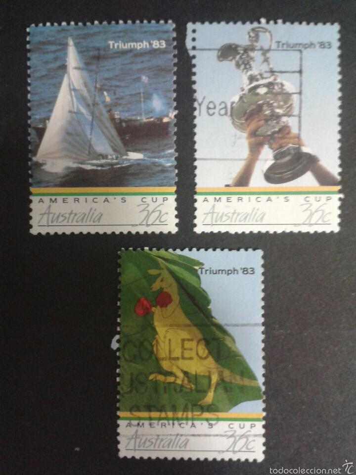 SELLOS DE AUSTRALIA. YVERT 977/9. SERIE COMPLETA USADA. DEPORTES. (Sellos - Extranjero - Oceanía - Australia)