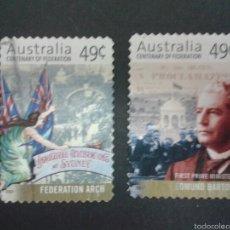 Sellos: SELLOS DE AUSTRALIA. YVERT 1909/10. SERIE COMPLETA USADA.. Lote 54188579