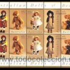 Sellos: AUSTRALIA 10V MUÑECAS 1997 NUEVO LUJO HB MNH *** SC. Lote 113134212