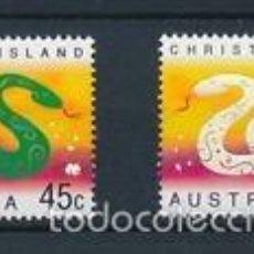 Sellos: CHRISTMAS ISLAND 2001 IVERT 483/4 *** AÑO LUNAR CHINO DE LA SERPIENTE. Lote 57161580