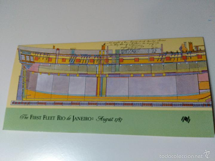 Sellos: serie de 5 sellos conmemorativo de barco australiano. the first fleet rio de janeiro - Foto 2 - 58584135