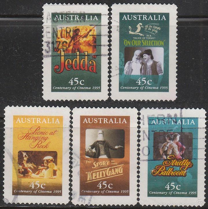 AUSTRALIA, PELICULAS MITICAS DEL CINE AUSTRALIANO, USADO (SERIE COMPLETA) (Sellos - Extranjero - Oceanía - Australia)