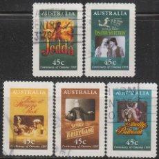 Sellos - Australia, Peliculas miticas del cine australiano, usado (serie completa) - 59163335