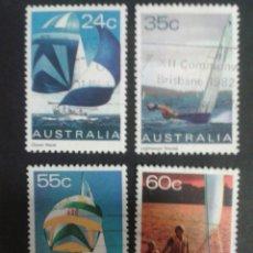 Sellos: SELLOS DE AUSTRALIA. DEPORTES. VELA. YVERT 758/61. SERIE COMPLETA USADA. Lote 61587362