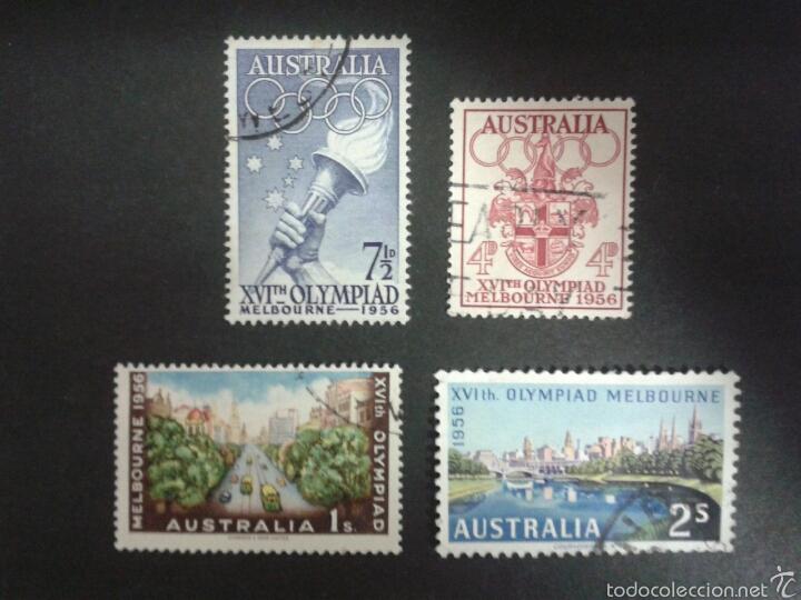 SELLOS DE AUSTRALIA. YVERT 231/4. SERIE COMPLETA USADA. DEPORTES. (Sellos - Extranjero - Oceanía - Australia)
