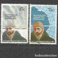 Sellos: ANTARTICO TERRITORIO AUSTRALIANO YVERT NUM. 53/54 SERIE COMPLETA USADA. Lote 63168760