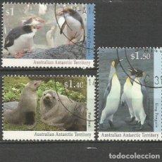 Sellos: ANTARTICO TERRITORIO AUSTRALIANO YVERT NUM. 95/97 SERIE COMPLETA USADA. Lote 63169088