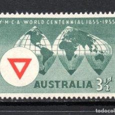 Sellos: AUSTRALIA 222** - AÑO 1955 - CENTENARIO DE Y.M.C.A.. Lote 143544394