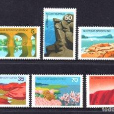 Sellos: AUSTRALIA 595/600** - AÑO 1976 - PAISAJES. Lote 143544417