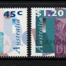 Sellos: AUSTRALIA 1540/41** - AÑO 1996 - PIEDRAS PRECIOSAS - PERLAS - DIAMANTES. Lote 73614863