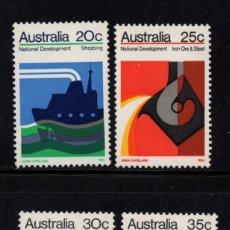 Sellos: AUSTRALIA 491/94** - AÑO 1973 - DESARROLLO NACIONAL - INDUSTRIA - CAMIONES - BARCOS - AVIONES. Lote 74136267