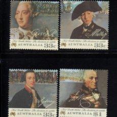 Sellos: AUSTRALIA 960/63** - AÑO 1986 - BICENTENARIO DE LA LLEGADA DE LOS PRIMEROS COLONOS. Lote 74136411