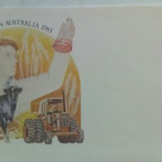 Sellos: AUSTRALIA 4 SOBRES ENTERO POSTALES TRES CON MATASELLOS PRIMER DÍA COLEGIO AGRICULTURA. Lote 74622757