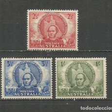 Francobolli: AUSTRALIA YVERT NUM. 152/154 * SERIE COMPLETA CON FIJASELLOS --EL 152 SIN GOMA--. Lote 81674980