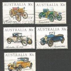 Francobolli: AUSTRALIA AUTOMOVILES ANTIGUOS YVERT NUM. 850/854 SERIE COMPLETA USADA. Lote 81676108