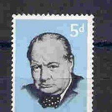 Sellos: CHURCHILL, W. PREMIO NOBEL LITERATURA AÑO 1953 . AUSTRALIA. SELLO AÑO 1965. Lote 94596475