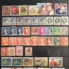 Sellos: LOTE 77 SELLOS AUSTRALIA TODOS DISTINTOS SELLO USADO VER TODOS EN FOTOGRAFIAS. Lote 97383919
