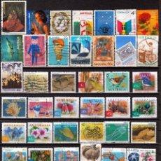 Sellos: AUSTRALIA. LOTE 100 SELLOS DIFERENTES . *.MH ( 17-334) ( 2 FOTOS). Lote 103472319