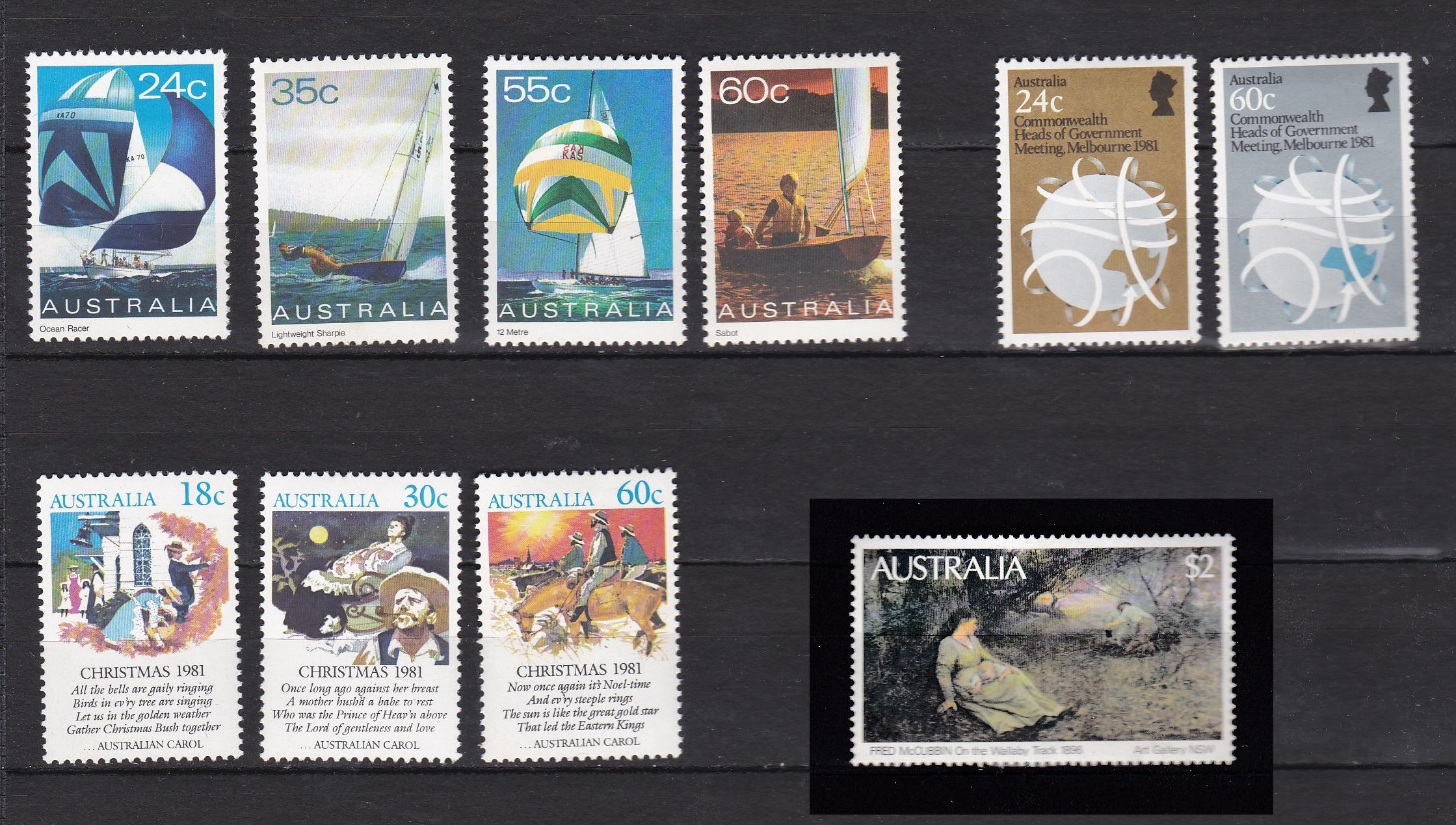 AUSTRALIA AÑO 1981 NUEVOS * (MH) LOTE 74 (Sellos - Extranjero - Oceanía - Australia)