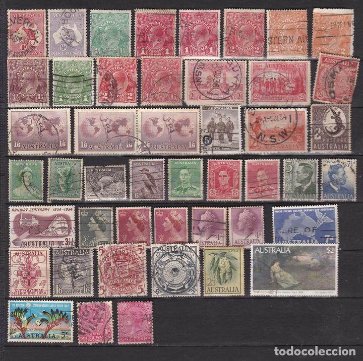 AUSTRALIA CLASICOS AÑOS 1913 - 1960 USADOS * (MH) LOTE 10 (Sellos - Extranjero - Oceanía - Australia)