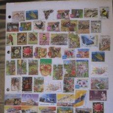 Sellos: FILATELIA - HOJA POR LAS DOS CARAS / 93 SELLOS ANTIGUOS DE AUSTRALIA.. Lote 103613887