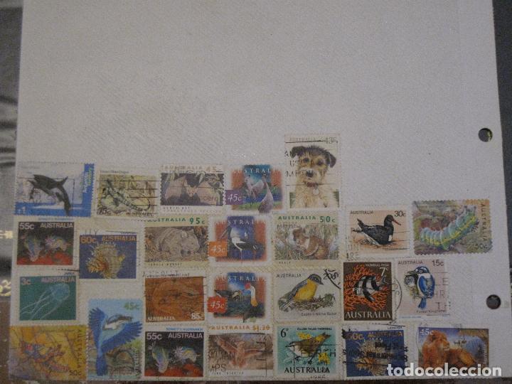 Sellos: FILATELIA - HOJA POR LAS DOS CARAS / 93 SELLOS ANTIGUOS DE AUSTRALIA. - Foto 2 - 103613887