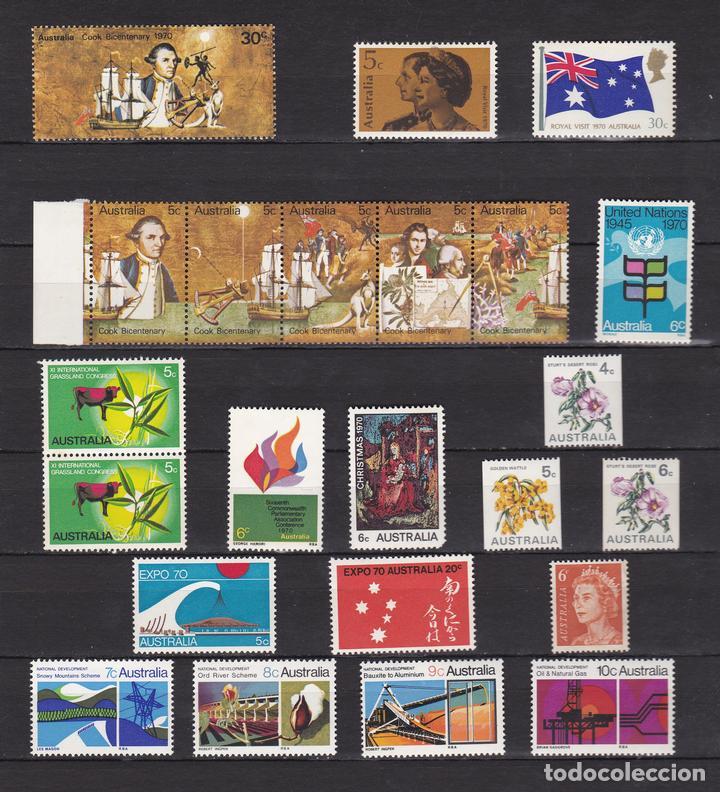 AUSTRALIA AÑO 1970 SELLOS NUEVOS * (MH) LOTE 86 (Sellos - Extranjero - Oceanía - Australia)