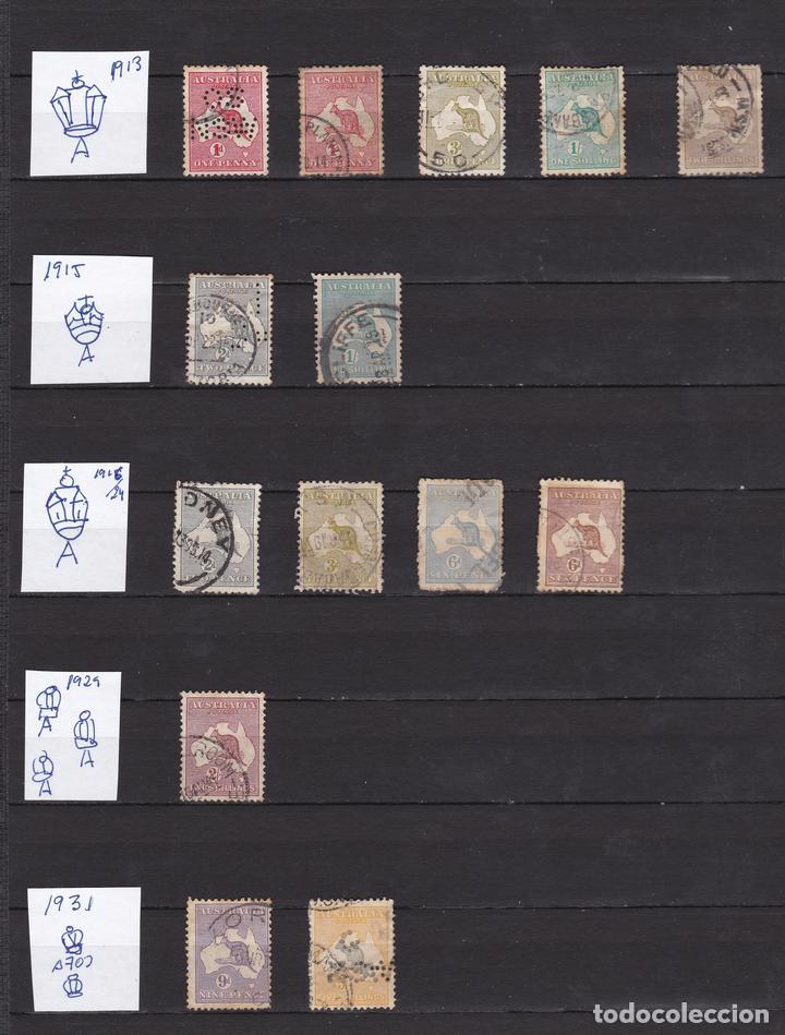 AUSTRALIA AÑOS 1913 - 1931 SELLOS USADOS * (MH) LOTE 6 (Sellos - Extranjero - Oceanía - Australia)