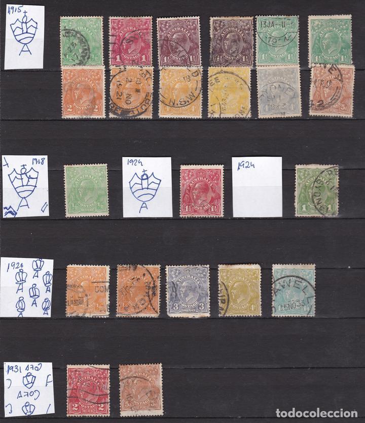 AUSTRALIA AÑOS 1914 - 1931 SELLOS USADOS * (MH) LOTE 11 (Sellos - Extranjero - Oceanía - Australia)