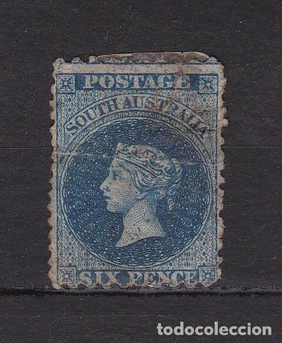 AUSTRALIA DEL SUR 1855 USADO (MH) LOTE 91 C (Sellos - Extranjero - Australia)