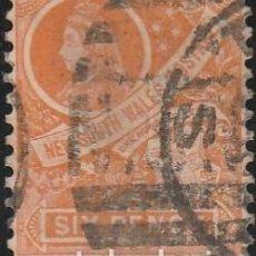 Sellos: NUEVA GALES DEL SUR 1897-1903-ESCUDO DE ARMAS .REINA VICTORIA , 6 P. *MH. Lote 104794975