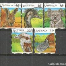 Sellos: AUSTRALIA SELLOS YVERT NUM. 964/968 SERIE COMPLETA USADA FAUNA. Lote 115298815