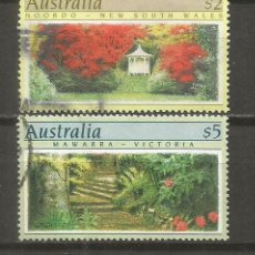 Sellos: AUSTRALIA SELLOS YVERT NUM. 1128/1129 SERIE COMPLETA USADA NATURALEZA JARDINES. Lote 115299191