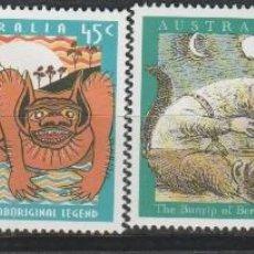 Sellos: LOTE U SELLOS MITOLOGIA AUSTRALIA SERIE COMPLETA NUEVOS ALTO VALOR AÑO 1994. Lote 127930555