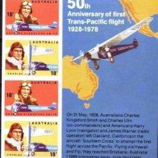 Sellos: SELLOS - AUSTRALIA 1978 AVIACIÓN BL. MNH. Lote 128483579