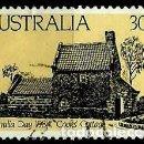 Sellos: AUSTRALIA YV 0847 DIA NACIONAL. CASA DE CAMPAÑA DE COOK (USADO). Lote 161019773